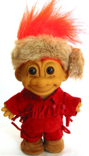 My Lucky Frontier Troll Doll (Orange Hair) by Russ Berrie