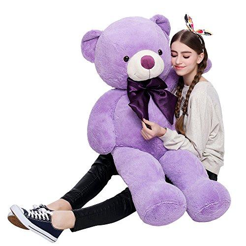 47 Inch Giant Teddy Bears Plush Toys MorisMos Purple Teddy Bear  Birthday  Present for Chirldren  120 Centimeter