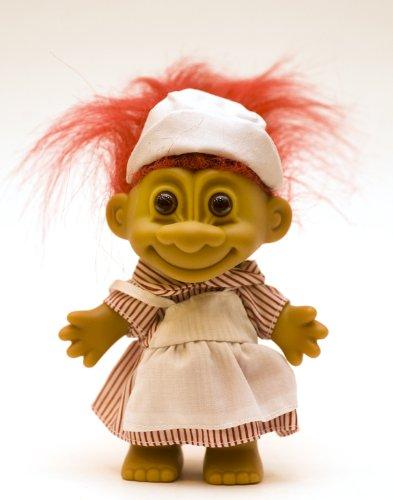 My Lucky CANDY STRIPER NURSE Troll Doll