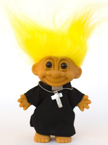 My Lucky Troll PRIEST Troll Doll (Yellow Hair)