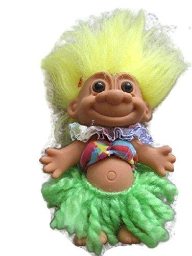 Russ Berrie Hula Troll with Yellow Hair