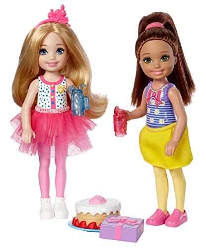 Barbie Club Chelsea Birthday Party Dolls & Accessories, 2 Pack