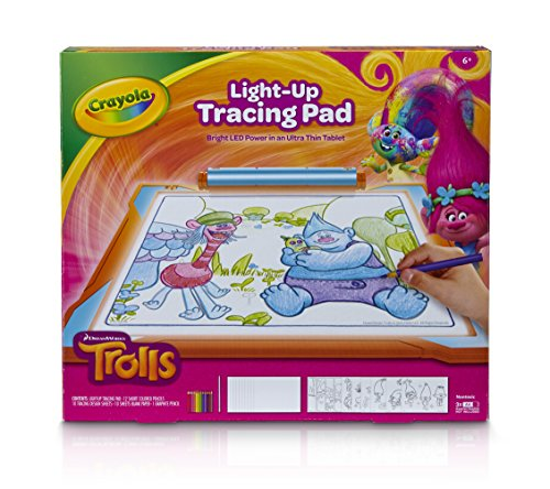 Crayola Trolls Light Up Tracing Pad Coloring Board For