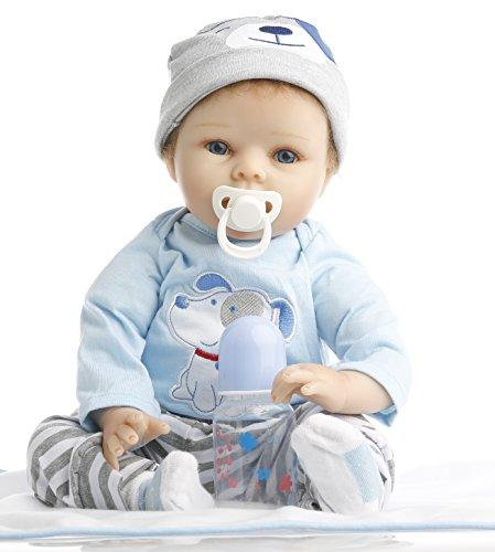 NPK Collection Reborn Baby Doll realistic baby dolls 22 inch Vinyl Silicone Babies Doll Newborn real baby doll Cute boy