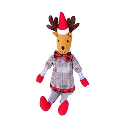 for Christmas, Christmas Elk Doll Doll Long Leg Plush Elk Doll Home Decoration Pendant