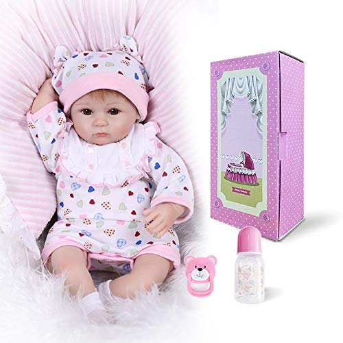 16inch Reborn premie Baby Girl Soft Body Weighted Doll Birthday Gift Hobby Collection Doll
