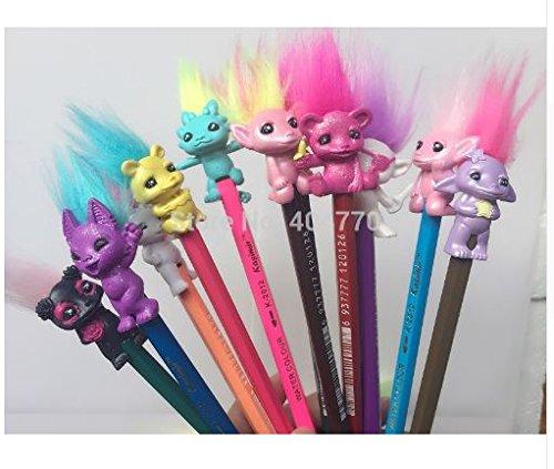 Express$ 5pcs/lot Mini Size Trolls Pencil Topper The Good Luck Trolls Doll PVC Toys Gifts For Kids